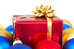 Presente lustroso de Christmass Foto de Stock