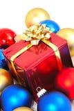 Presente lustroso de Christmass Fotografia de Stock