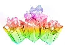 Presente mágico da cor Fotos de Stock Royalty Free