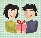 Presente no dia do Valentim do st Fotografia de Stock Royalty Free