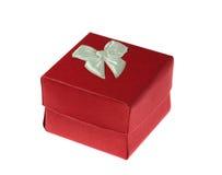 Presente no vermelho Imagem de Stock Royalty Free