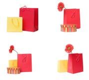 Presente o accumulazione dei sacchetti di acquisto immagine stock