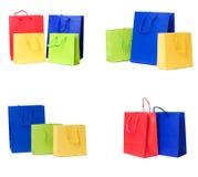 Presente o accumulazione dei sacchetti di acquisto fotografia stock libera da diritti
