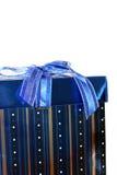 Presente ou presente do azul foto de stock