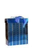 Presente ou presente do azul fotografia de stock
