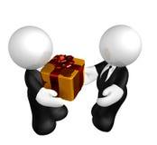 Presente ou subôrno do negócio ilustração stock