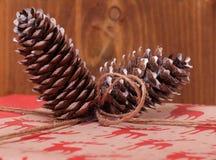 Presente para o ano novo e o Natal Fotos de Stock Royalty Free