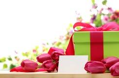 Presente para o dia de mãe Imagem de Stock Royalty Free
