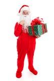 Presente para Santa Claus Imagens de Stock Royalty Free