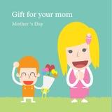 Presente para sua mamã Fotografia de Stock Royalty Free