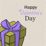 Presente para Valentine Day Isome dibujada mano del vector Imagenes de archivo