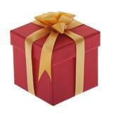 Presente, rectángulo con la cinta de la joyería Fotografía de archivo libre de regalías