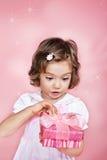 Presente rosa Fotografie Stock