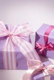 Presente rosado Foto de archivo libre de regalías