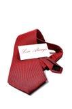 Presente sempre vermelho da gravata do amor Fotografia de Stock Royalty Free