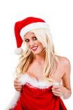 Presente 'sexy' do Natal Imagens de Stock Royalty Free