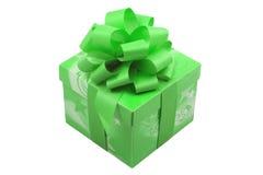 Presente verde Fotos de Stock Royalty Free