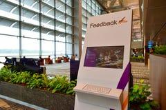 Presentemente, o aeroporto teve três terminais operacionais Imagem de Stock