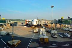 Presentemente, o aeroporto teve três terminais operacionais Foto de Stock Royalty Free