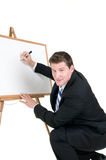 Presenter with board Royalty Free Stock Image