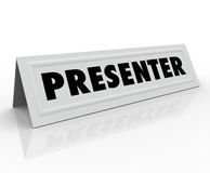 Presenter Name Tent Card Guest Speaker Spot Stock Image