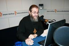 Presenter of Radio Liberty the priest Yakov Krotov Stock Photos