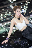Presenter in sexy dress at The 30th Thailand International Motor Expo on December 3, 2013 in Bangkok, Thailand Stock Photography