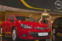 Opel Astra GTC car model on display Royalty Free Stock Image