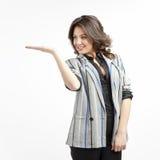 Presentera för affärskvinna Royaltyfri Foto