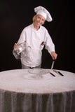 presentera för kockbakelse Royaltyfri Bild