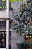 presenterad gammal shanghai för arkitektur porslin stil Arkivbild
