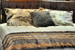 presenterad sängkläder Royaltyfria Foton