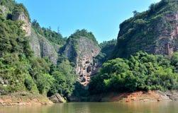 Presenterade berg i Taining, Fujian, Kina Arkivfoto