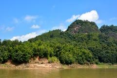 Presenterade landforms i Fujian, söder av Kina arkivfoto