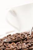 Presenterat dekorativt för kaffe. arkivbild