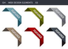 presenterat symbolsband vektor illustrationer