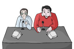 Presenters cartoon Royalty Free Stock Image