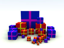 Presentes 2 de Navidad Fotos de archivo libres de regalías