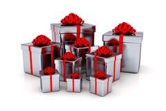 Presentes - 3d rendem Imagens de Stock Royalty Free