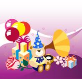 Presentes, aniversário, feriado Ilustração do Vetor