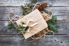 Presentes bonitos do ano novo do Natal do vintage Foto de Stock Royalty Free