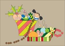 Presentes bonitos do Natal Fotos de Stock