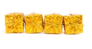 Presentes brillantes de oro Fotografía de archivo