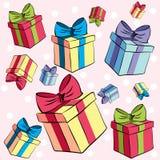 Presentes caóticos coloridos foto de stock royalty free