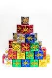 Presentes coloreados Imagen de archivo libre de regalías