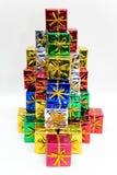 Presentes coloreados Imágenes de archivo libres de regalías