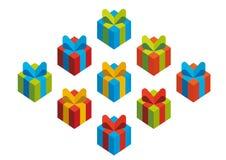 Presentes coloridos Imagens de Stock Royalty Free