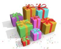 Presentes coloridos Imagen de archivo libre de regalías