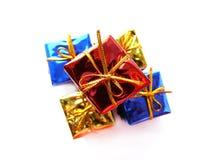Presentes coloridos Fotos de archivo libres de regalías