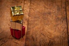 Presentes coloridos do Natal Imagem de Stock